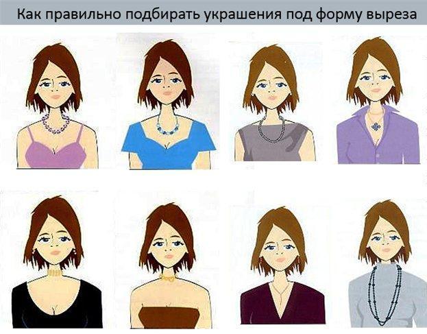 Как правильно подобрать украшение к платью с круглым вырезом